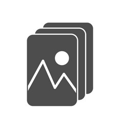 Simple gallery or album icon with photos or vector