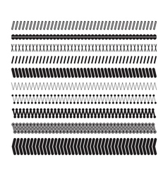 Simple zigzag underlines A set of geometric vector