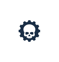 skull gear logo icon design vector image