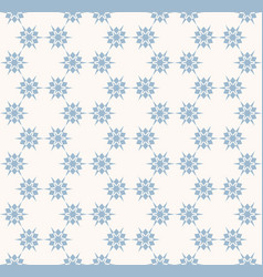 snowflakes seamless pattern delicate blue and vector image