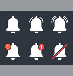social media icons with notification bell vector image