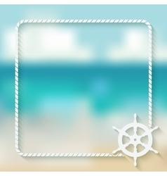 steering wheel marine background vector image