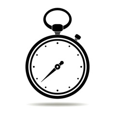 Stopwatch black icon vector image