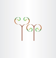 stylized eco plant with leaves icon sign vector image