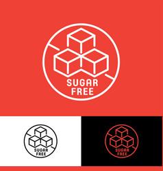 Sugar free icon simple linear vector