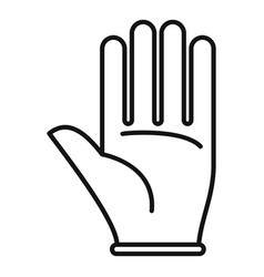 Survival glove icon outline style vector