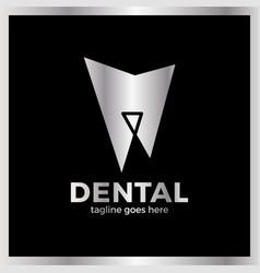 Teeth dental line logotype luxury royal metal gold vector
