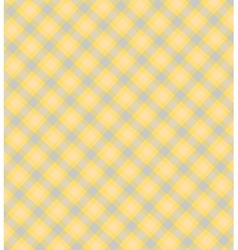 Tender checkered yellow blue background vector image