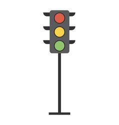traffic light symbol on white light-emitting vector image