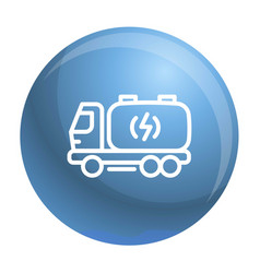 Truck energy icon outline style vector