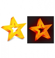 two gold star vector image
