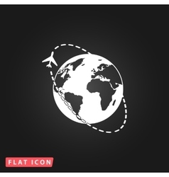 Air travel destination icon vector