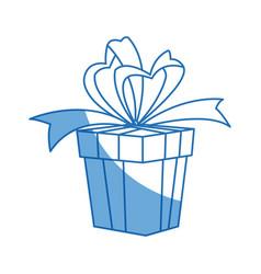 Party gift box celebration birthday bow decoration vector