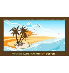 Retro summer design vector