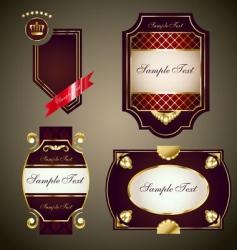 royal labels set vector image vector image