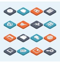 Shopping Icons Isometric vector image