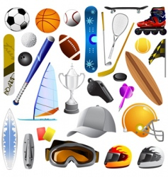 sport objects vector image vector image