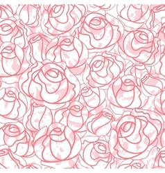 seamless roses pattern backdrop vector image vector image