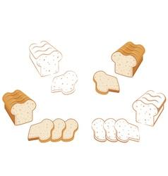 Set of bread vector image vector image