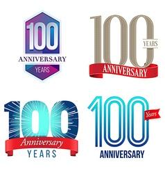 100 Years Anniversary Symbol vector image vector image