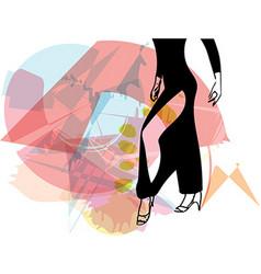 Abstract of Latino Dancing woman legs vector image vector image