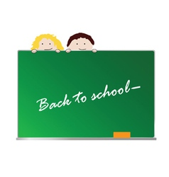 back to school with children color art vector image