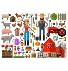 farm farmhouse farmyard logo design vector image vector image