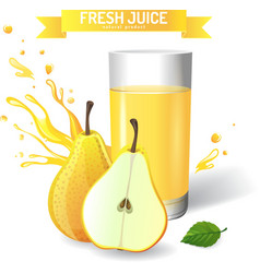 Fresh juice background vector image vector image