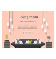 modern living room interior banner website vector image
