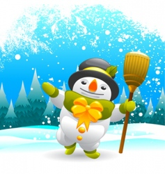 snowman character vector image vector image