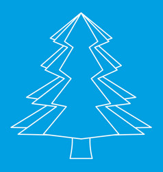 Spruce icon outline style vector