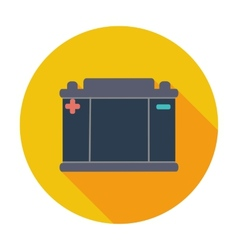 Battery flat icon vector image vector image