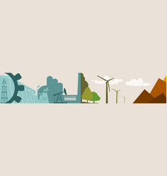 energy and power icons ecology banner vector image