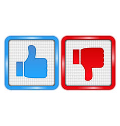 Like and Unlike Buttons vector image vector image