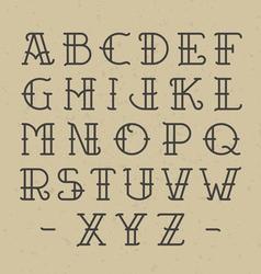 Old school tattoo alphabet vector image vector image