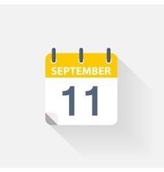 11 september calendar icon vector image