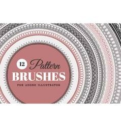 12 Pattern Brushes - Set vector