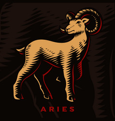 A aries zodiac sign vector
