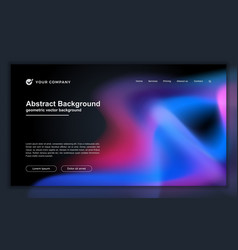 abstract liquid background for your landing page vector image
