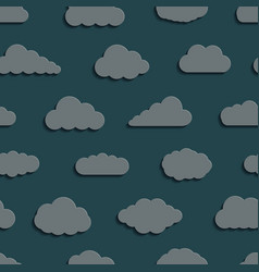 abstract seamless pattern background clouds vector image