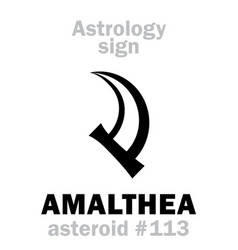Astrology asteroid amalthea vector