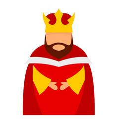 bethlehem king icon flat style vector image