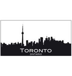 black and white silhouette toronto vector image