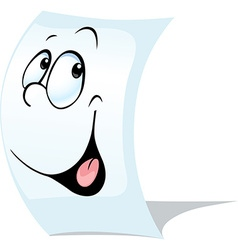 blank white page a sheet of paper with face vector image