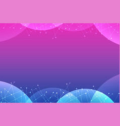 blue and pink abstract background vector image