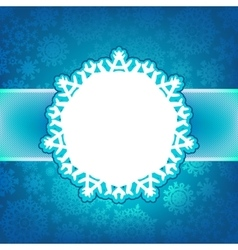 Blue christmas card with glitter light EPS 8 vector image