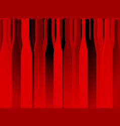 Bottle alcohol red background vector