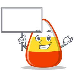 Bring board candy corn character cartoon vector