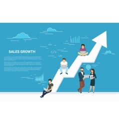 Business growth concept of business vector image vector image