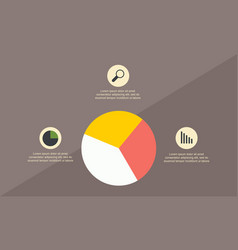 Business infographic with diagram style vector